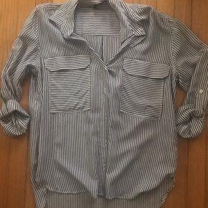 Zara Striped Button Down Shirt NWT Medium